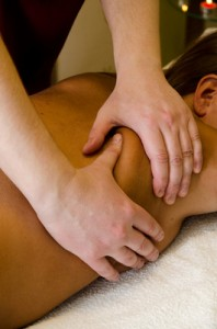 massage of the back
