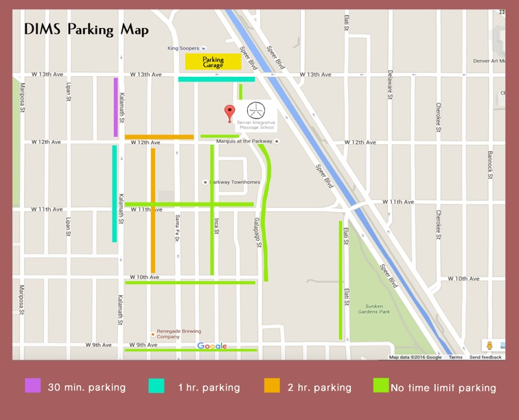 DIMS parking map